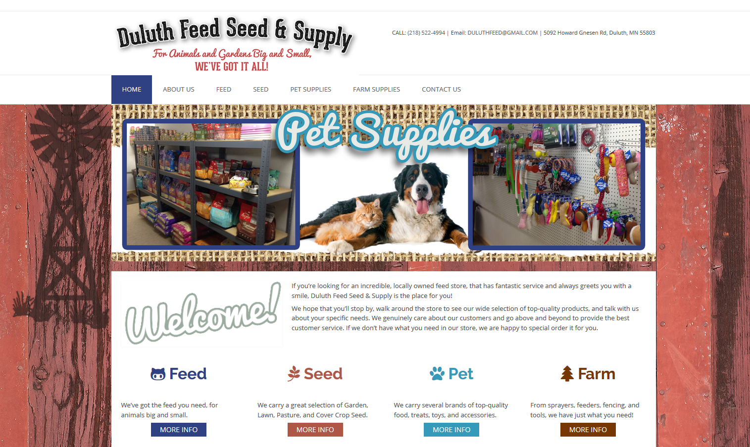 Duluth Feed Seed and Supply Home Page