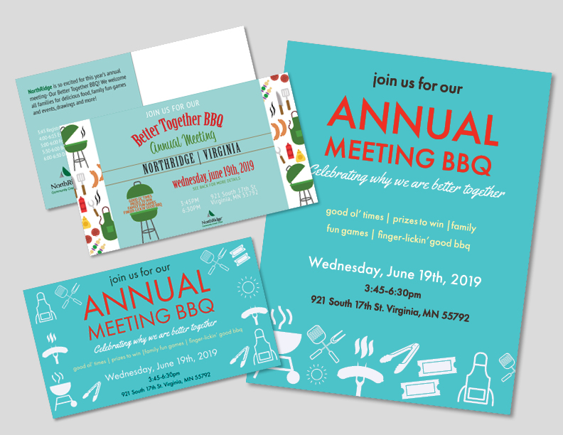 Annual Meeting BBQ Postcard with Flyers