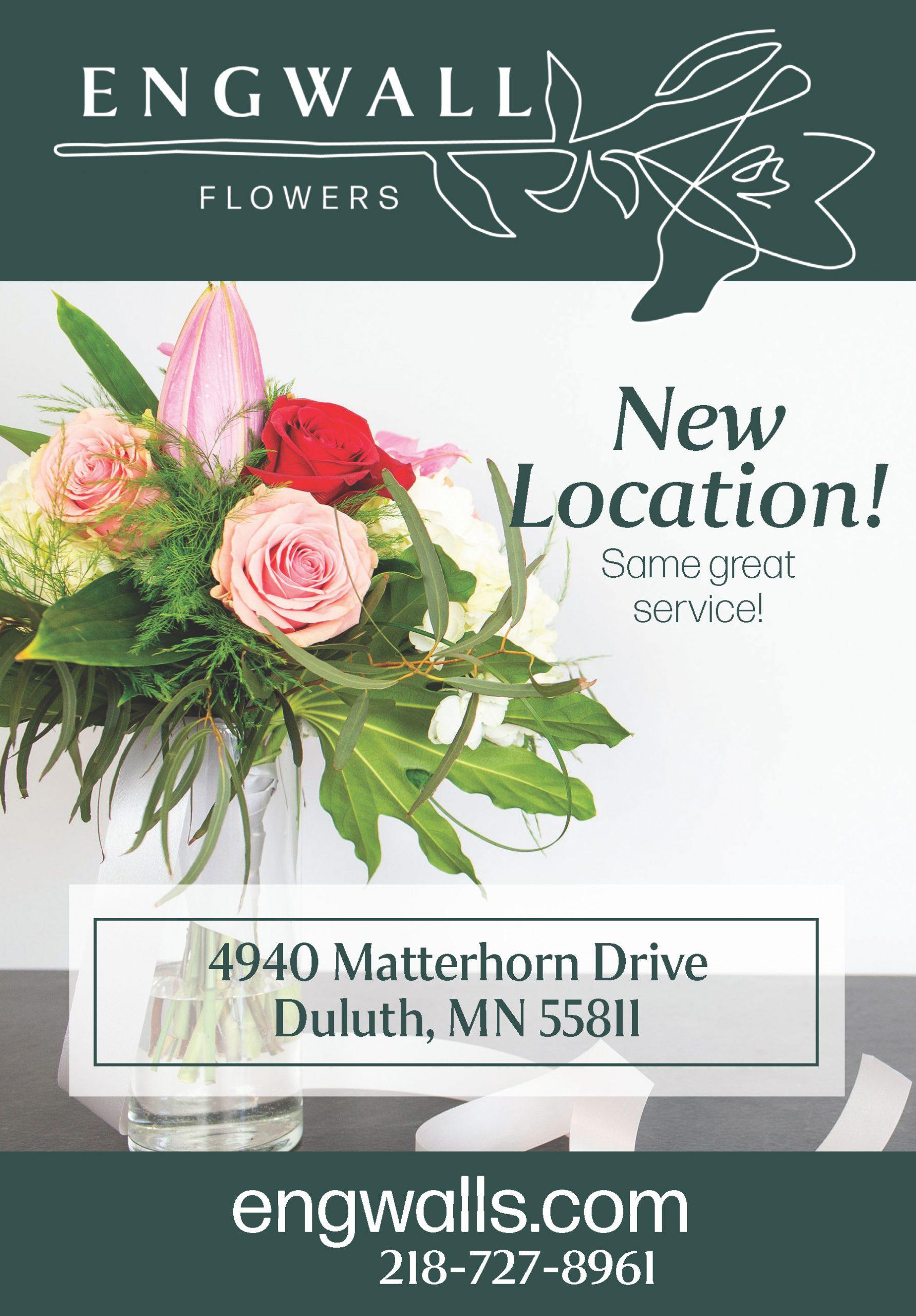 Engwall Flowers Newspaper Ad